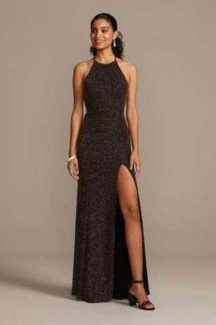 Long Sheath Halter Dress - Blondie Nites
