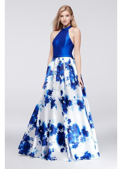Long Ballgown Halter Cocktail and Party Dress - Colors