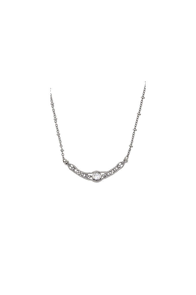 Downton Abbey Silver Crystal Collar Necklace - Whether dressing for daytime or a more formal