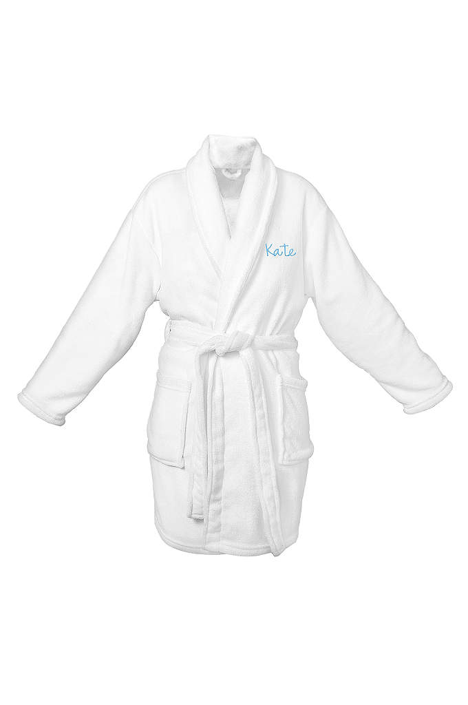 DB Exclusive Personalized White Plush Robe - This Personalized White Plush Robe is made of