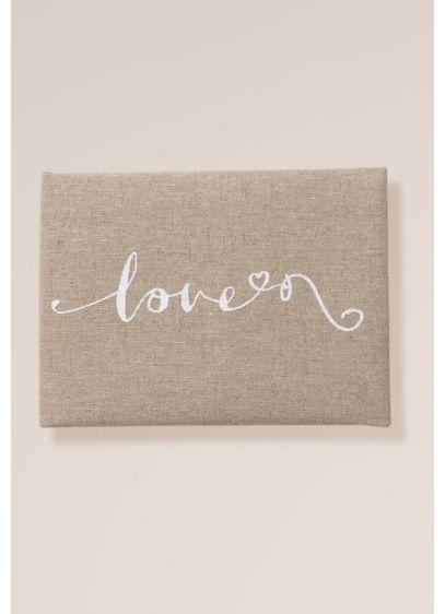 Love Script Linen Guest Book - Wedding Gifts & Decorations