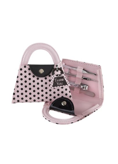 Pink Polka Purse Manicure Set - Wedding Gifts & Decorations