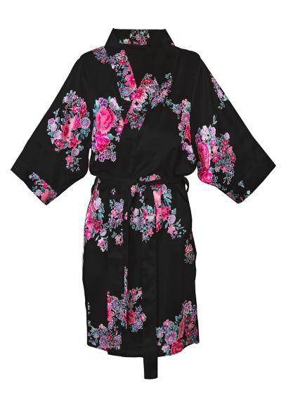 DB Exclusive Personalized Floral Satin Robe - Wedding Gifts & Decorations