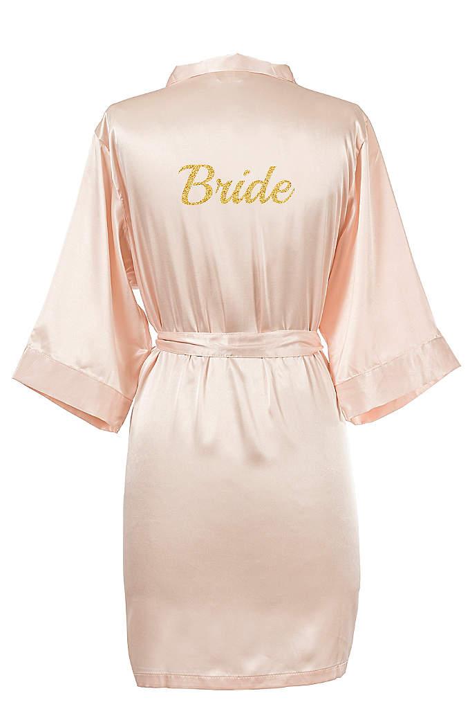 Glitter Script Bride Luxury Satin Robe - The Glitter Script Bride Luxury Satin Robe is