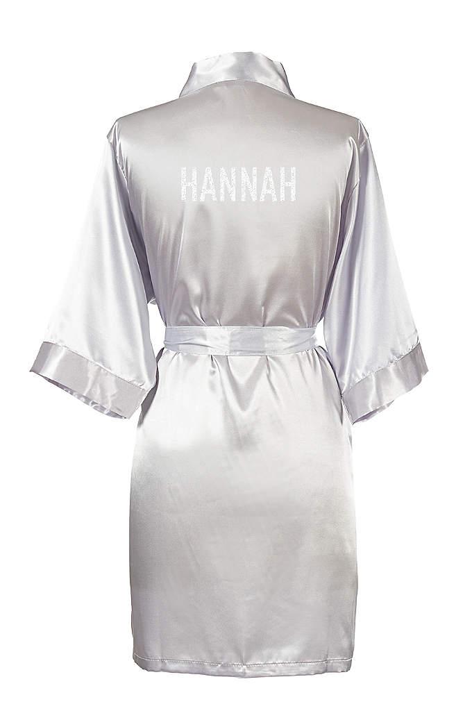 Personalized Glitter Script Name Luxury Satin Robe - The Personalized Glitter Script Name Luxury Satin Robe