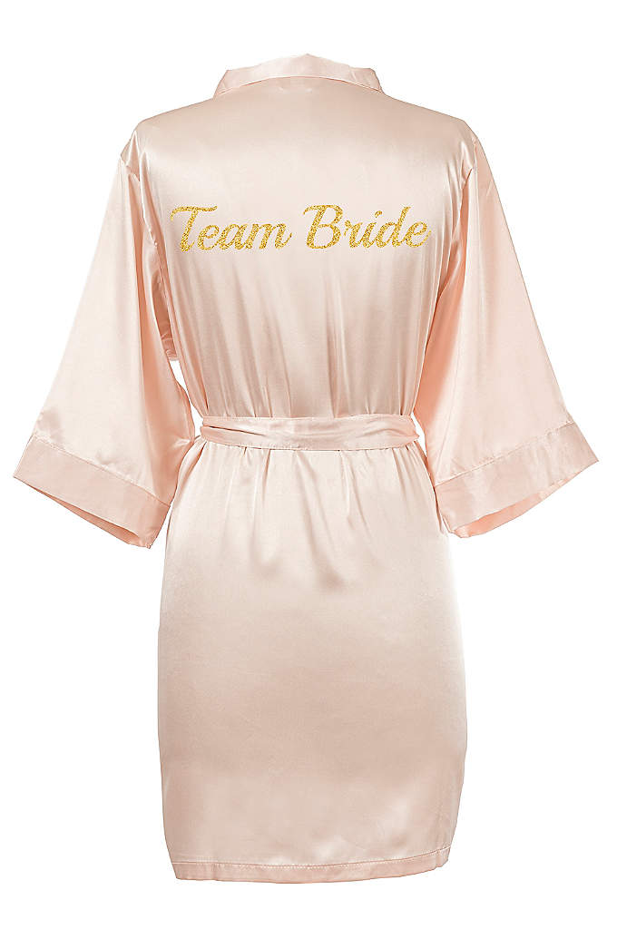 Glitter Script Team Bride Luxury Satin Robe - The Team Bride Satin Robe is the perfect
