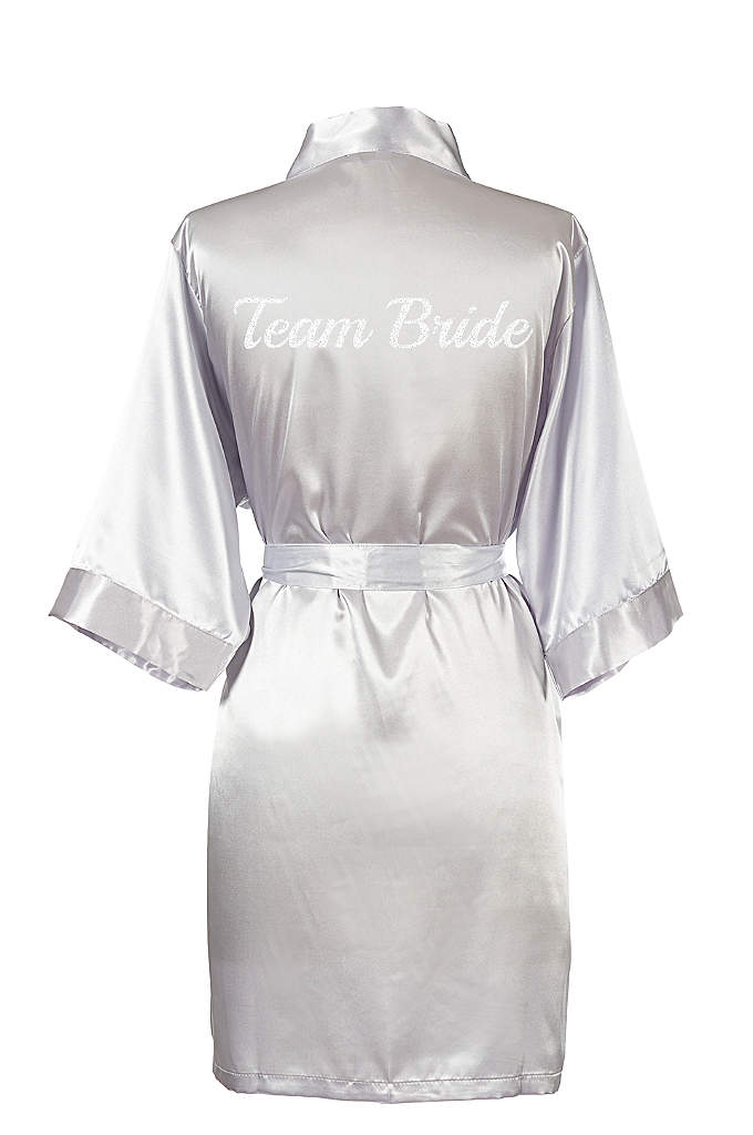 Glitter Script Team Bride Luxury Satin Robe - The Team Bride Satin Robe is the perfect