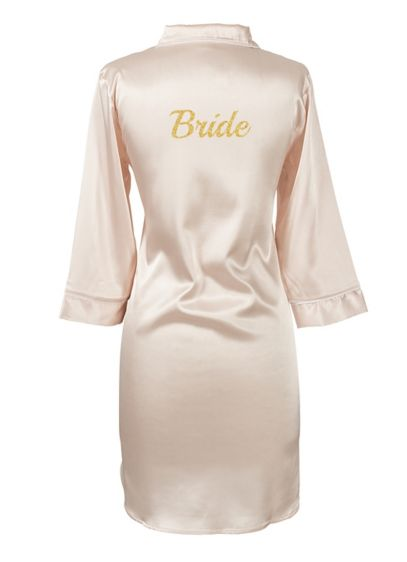 Pink (Glitter Script Bride Satin Night Shirt)