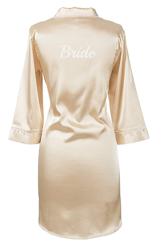 Glitter Script Bride Satin Night Shirt - Wear this Bride Satin Night Shirt with glitter
