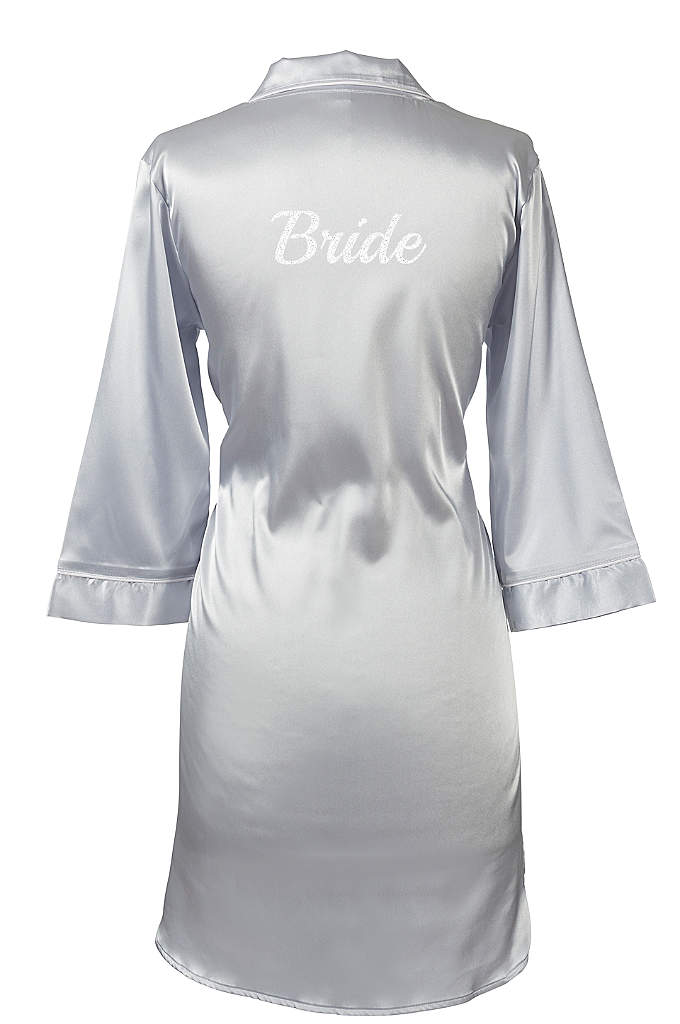 Glitter Script Bride Satin Night Shirt - Wear this Bride Satin Night Shirt with glitter
