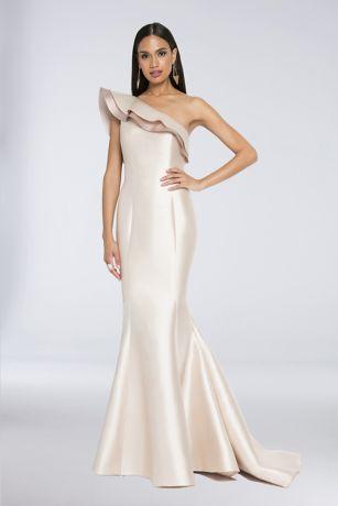One Shoulder Trumpet Dress