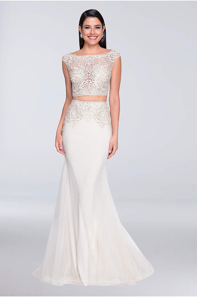 Embroidered And Beaded Two Piece Wedding Dress David S Bridal
