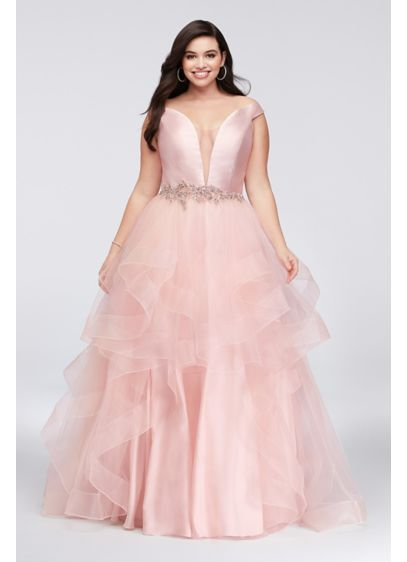 Long Ballgown Off the Shoulder Formal Dresses Dress - Glamour by Terani