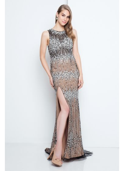 Long Sheath Tank Cocktail and Party Dress - Terani Couture