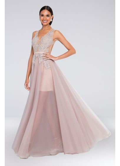 Long Ballgown Tank Cocktail and Party Dress - Terani Couture