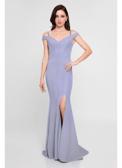 Long Purple Terani Couture Bridesmaid Dress