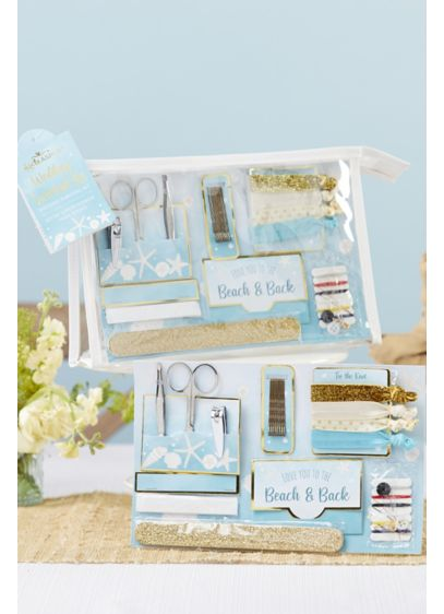 Beach Party Wedding Survival Kit - Includes 12 oil absorbing wipes, tweezers, a pair