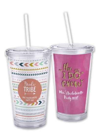 Personalized Bachelorette Tumbler - Give your crew a bit of extra fun