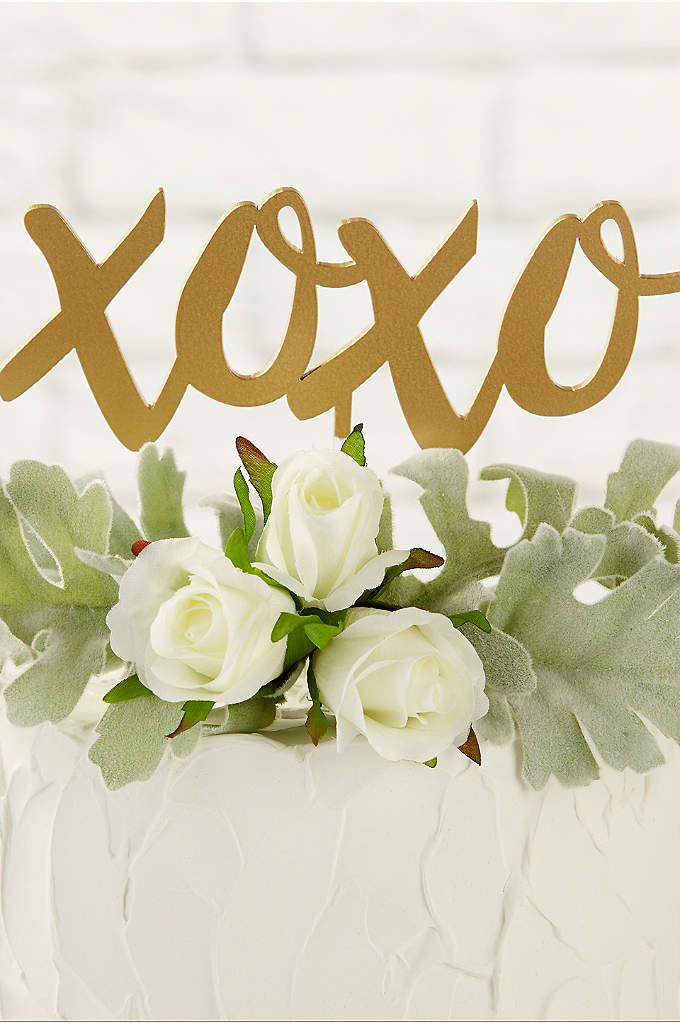 Gold XOXO Cake Topper - Send hugs and kisses to your guests with