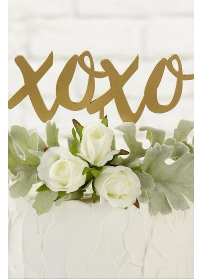 Gold XOXO Cake Topper - Wedding Gifts & Decorations