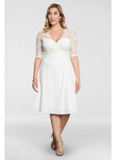 Lavish Lace Plus Size Dress | David\'s Bridal
