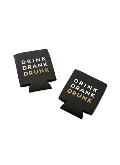 Drink Drank Drunk Insulated Drink Sleeve Set of 4 - Wedding Gifts & Decorations
