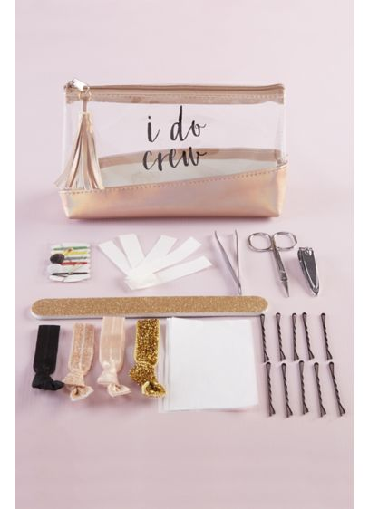 Rose Gold I Do Crew Survival Kit - Includes 12 oil absorbing wipes, tweezers, a pair