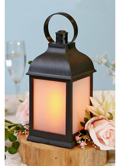 LED Vintage Decorative Black Lantern Set - Set of two lanterns Requires 3 AAA batteries;