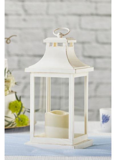 LED Vintage Decorative Ivory Lantern - Requires 3 AAA batteries; not included Plastic, glass,