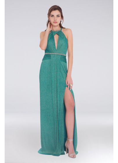 Long Halter Formal Dresses Dress - Terani Couture
