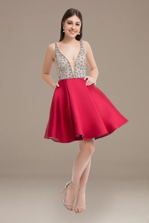 Short Ballgown Tank Dress - Terani Couture