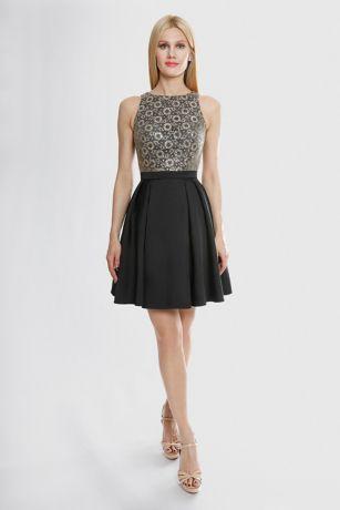 Short A-Line Halter Dress - Terani Couture