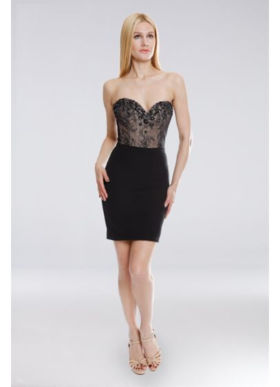 Short Strapless Cocktail and Party Dress - Terani Couture