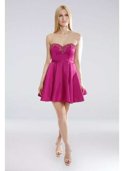 Short A-Line Strapless Cocktail and Party Dress - Terani Couture