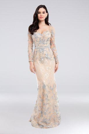 Long Sleeves Dress - Terani Couture