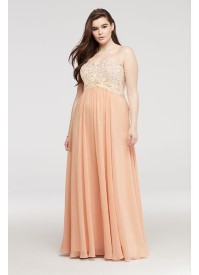 Long A-Line Strapless Guest of Wedding Dress - Decode 18