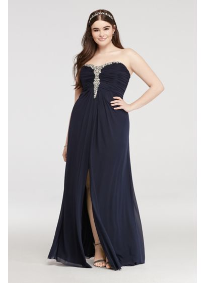 Long A-Line Strapless Guest of Wedding Dress - Decode 18