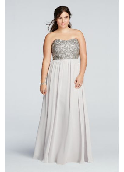 Long A-Line Strapless Formal Dresses Dress - Decode 18