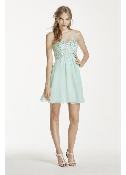 Short A-Line Strapless Guest of Wedding Dress - Decode 18