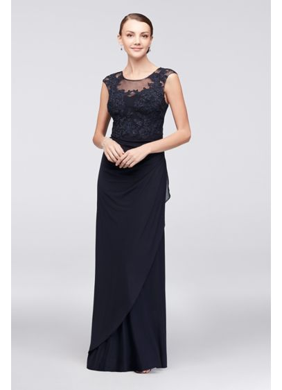 Long Sheath Cap Sleeves Cocktail and Party Dress - Decode 18