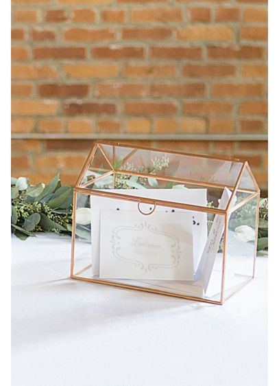 Pink (Personalized Glass Terrarium Card Holder)