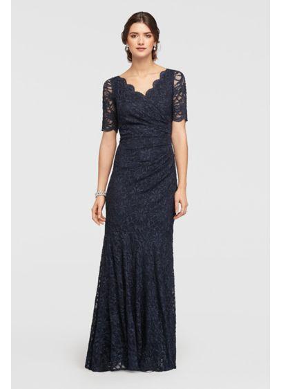 Long Mermaid/ Trumpet Elbow Sleeves Formal Dresses Dress - Decode 18