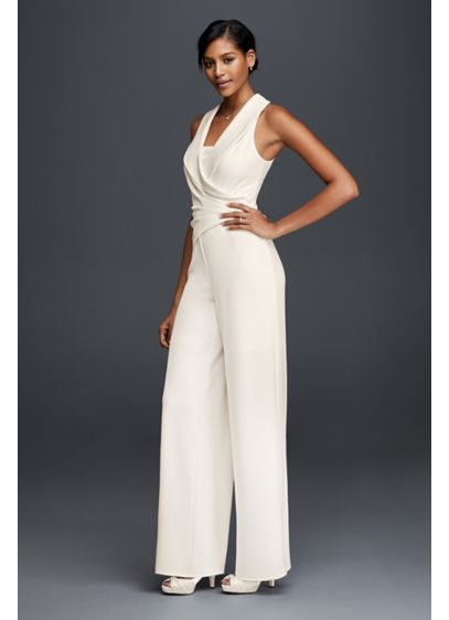 Long Jumpsuit Beach Wedding Dress Db Studio