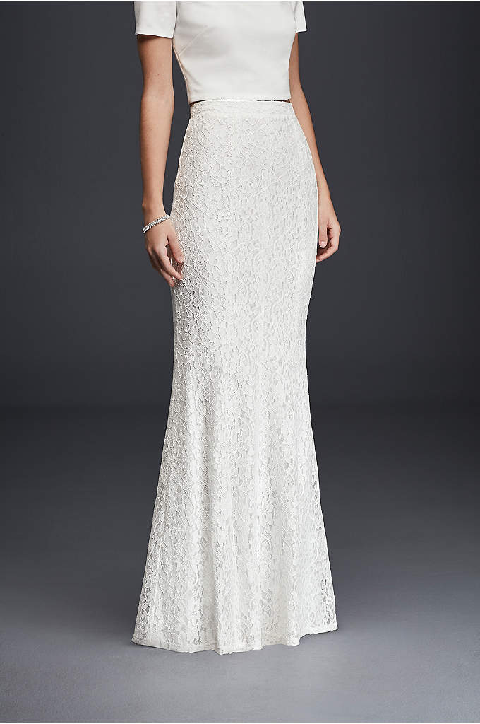 Long Slim Lace Skirt - The beauty of bridal separates is that they