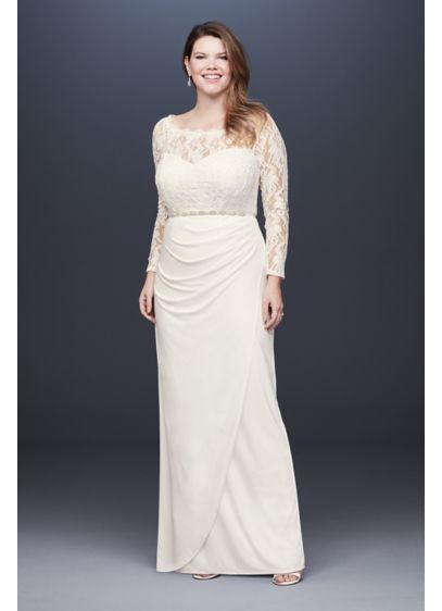 Long Sheath Beach Wedding Dress - David's Bridal
