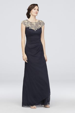 317a236e4c4 Long Sheath Cap Sleeves Cocktail and Party Dress - Xscape. Save