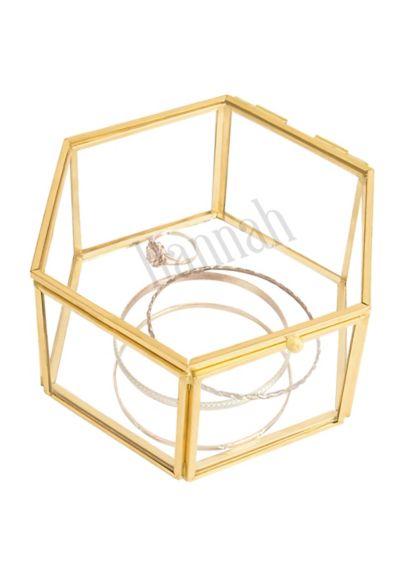 Personalized Gold Keepsake Jewelry Box - Wedding Gifts & Decorations