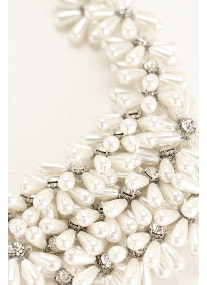 Pearl Flower Statement Necklace - Wedding Accessories