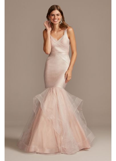 Bandage Mermaid Trumpet Gown with Horsehair Trim - Bring on the drama in this statement-making mermaid