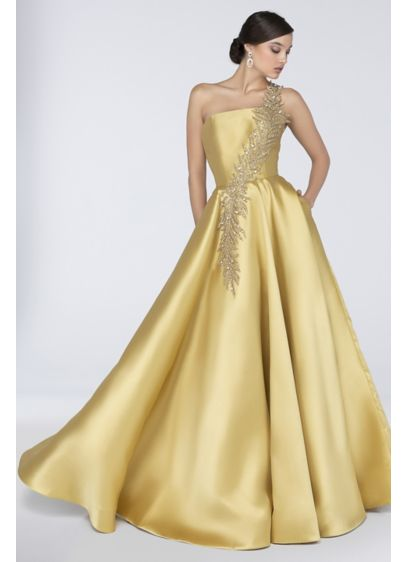 Long Ballgown One Shoulder Formal Dresses Dress - Terani Couture